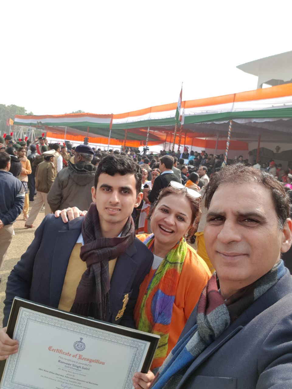 Gallery archives ranveer saini bhim awardee ranveer saini felicitated on republic day celebrations by the education minister altavistaventures Choice Image