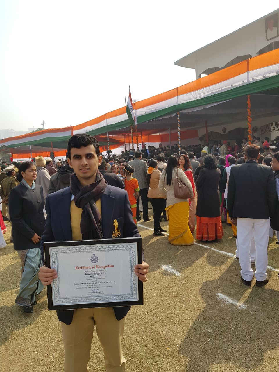 Gallery archives ranveer saini bhim awardee ranveer saini felicitated on republic day celebrations by the education minister thecheapjerseys Gallery