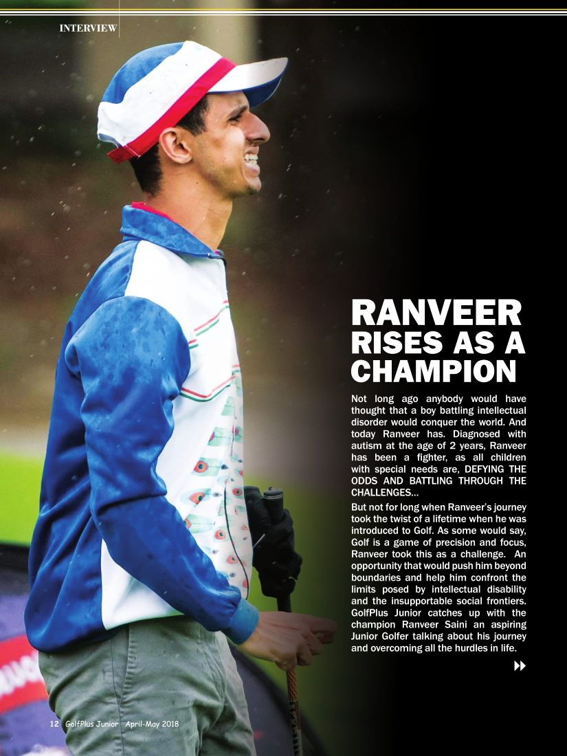 Gallery archives ranveer saini golf plus junior 1st edition launched with featuring ranveer saini on the cover page altavistaventures