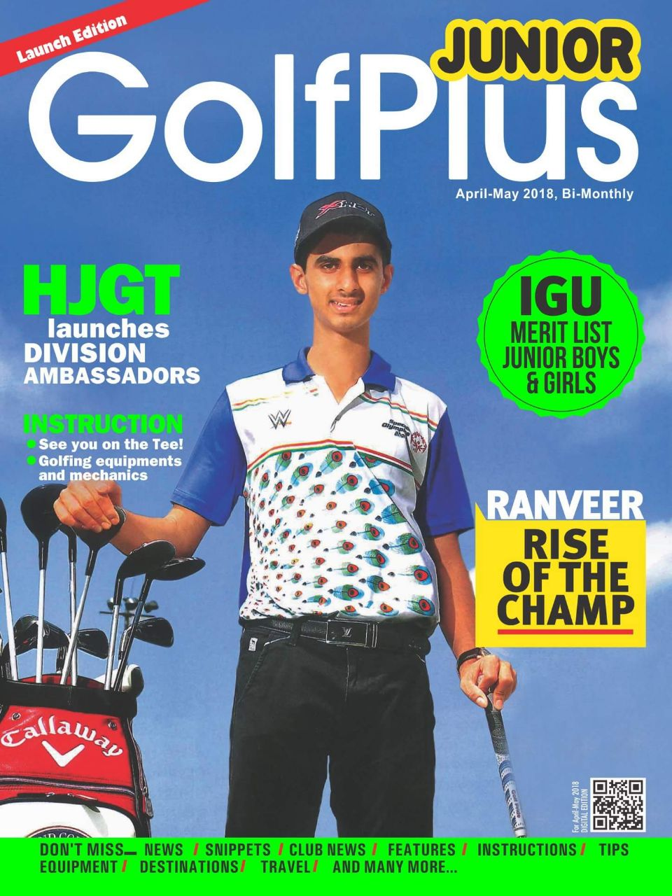 Golf plus junior 1st edition launched with featuring ranveer saini golf plus junior 1st edition launched with featuring ranveer saini on the cover page altavistaventures