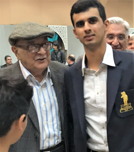 Ranveer felicitated by Jurist Fali Nariman at the Parsi Anjuman