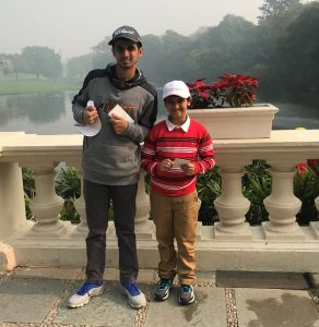 Ranveer playing the Junior Lufthansa Tournament