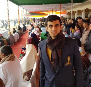 Bhim Awardee Ranveer Saini felicitated on Republic Day Celebrations by the Education Minister